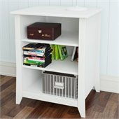 Nexera Vice Versa Stereo Cabinet in White