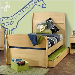 Nexera Alegria Twin Sleigh Bed in Natural Maple Best Price