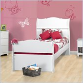Nexera Dixie Sleigh Bed in White