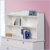Nexera Pixel Bookcase Hutch in White