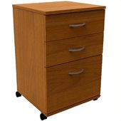 Nexera Essentials 3-Drawer Mobile File in Cappuccino