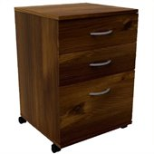 Nexera Essentials 3-Drawer Mobile File in Truffle