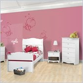 Nexera Dixie 4-Piece Bedroom Set in White