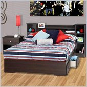 Nexera Pocono Full 3-Piece Bedroom Set in Espresso