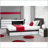 Nexera Allure 39 5-Piece Bedroom Set in Ebony