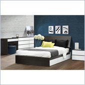 Nexera Allure 54 6-Piece Bedroom Set in Ebony