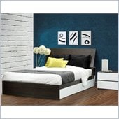 Nexera Allure 54 4-Piece Bedroom Set in Ebony