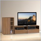 Nexera Alizee 2-Piece Entertainment Set in Walnut