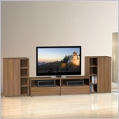 Nexera Alizee 3-Piece Entertainment Set in Walnut