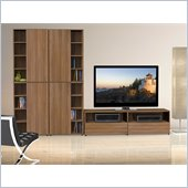 Nexera Alizee 5-Piece Entertainment Set in Walnut