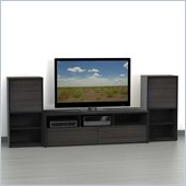 Nexera Sereni-T 3-Piece Entertainment Center in Ebony