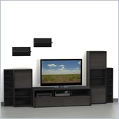Nexera Sereni-T 7-Piece Entertainment Center in Ebony