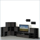 Nexera Sereni-T 10-Piece Entertainment Center in Ebony