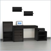 Nexera Sereni-T 6-Piece Modular Workstation in Ebony