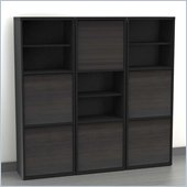 Nexera Sereni-T 3-Piece Modular Storage Set in Ebony