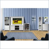 Nexera Vice Versa 5-Piece Entertainment Center in White