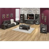 Nexera Elegance 7-Piece 58 Entertainment Set in Espresso