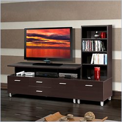 Nexera Element 56 TV Stand with Sattelite Unit in Espresso