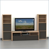 Nexera Infini-T 3-Piece Entertainment Set in Biscotti and Espresso