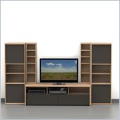 Nexera Infini-T 5-Piece Entertainment Set in Biscotti and Espresso