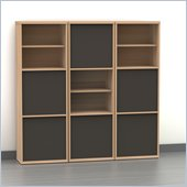 Nexera Infini-T 3-Piece Storage Set in Biscotti and Espresso