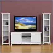 Nexera Vice Versa 3-Piece Entertainment Center in White