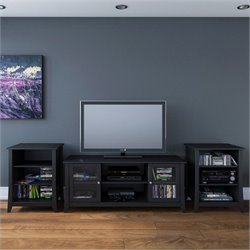 Nexera Tuxedo 3-Piece Entertainment Package in Black