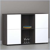 Nexera Allure 3-Piece Storage Module in Ebony and White