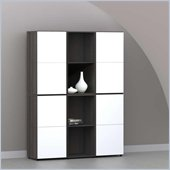 Nexera Allure 6-Piece Storage Module in Ebony and White