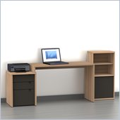 Nexera Infini-T 3-Piece Office Module Set in Biscotti