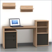 Nexera Infini-T 5-Piece Office Module Set in Biscotti