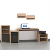 Nexera Infini-T 6-Piece Office Module Set in Biscotti