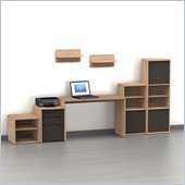 Nexera Infini-T 7-Piece Office Module Set in Biscotti