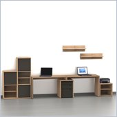 Nexera Infini-T 8-Piece Office Module Set in Biscotti