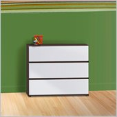 Nexera Atom Chest in White Lacquer and Ebony