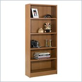 Nexera Essentials 5 Shelf Tall Wood Bookcase in Cappuccino