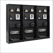 Nexera Essentials 5 Shelf Wall Wood Bookcase in Black