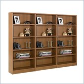 Nexera Essentials 5 Shelf Wall Wood Bookcase in Cappuccino