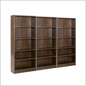 Nexera Essentials 5 Shelf Wall Wood Bookcase in Truffle