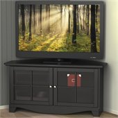 Nexera Pinnacle 49'' Two Door Corner TV Stand in Black