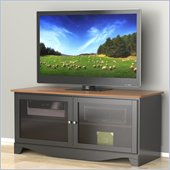 Nexera Pinnacle 54'' Two Door TV Stand in Cherry & Black