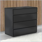 Nexera Avenue 4 Drawer Chest in Black Lacquer & Melamine