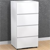 Nexera Blvd 3 Drawer Filing/Storage Module in White Lacquer & Melamine