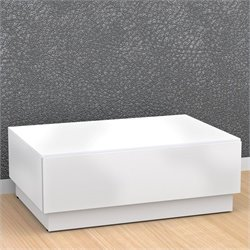 Nexera Blvd Coffee Table with Hidden Storage in White