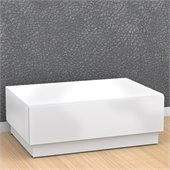 Nexera Blvd Coffee Table w/ Hidden Storage in White Lacquer & Melamine