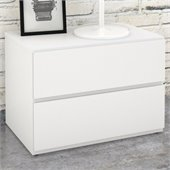 Nexera Blvd Night Stand in White Lacquer & Melamine