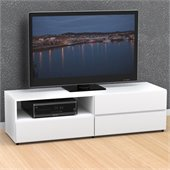 Nexera Blvd 60'' TV Stand in White Lacquer & Melamine