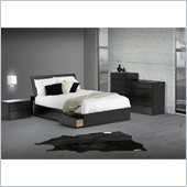 Nexera Avenue Reversible Storage 5 Piece Bedroom Set in Black