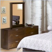 Nexera Nocce 6-Drawer Double Dresser and Mirror Set