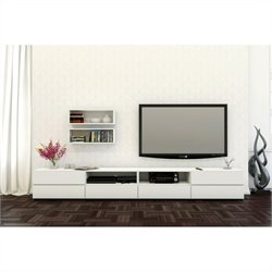 Nexera Blvd 3 Piece Entertainment Set in White